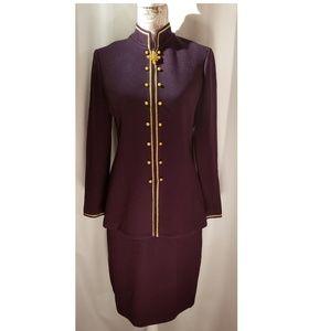 St. John Collection purple & gold 2 piece suit